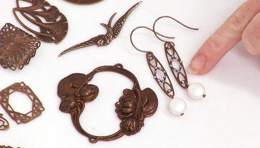 How to Make the Clarabel Earrings from the Vintaj Designer Series