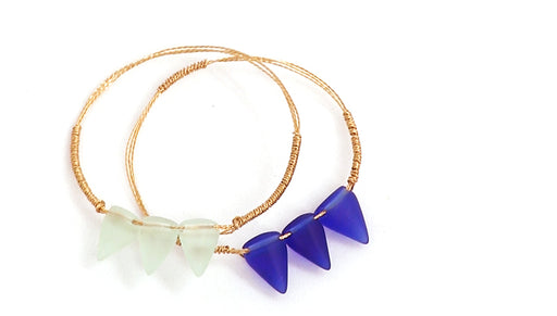 How to Make a Sea Glass Spike Bangle Bracelet