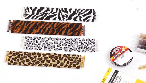 How to Make the Animal Print Peyote Bracelet Kits