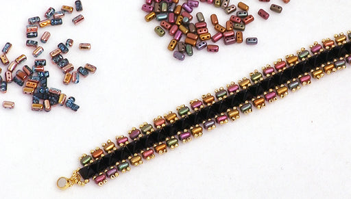 How to Make the Punk Rock Princess Bracelets featuring the 2-Hole Rulla Beads