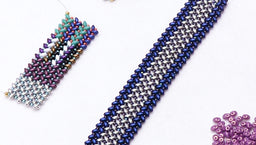 How to Stitch Herringbone with Two Hole Beads