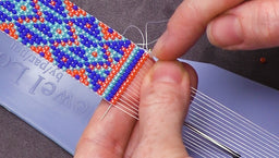 Quick Tip: Switching to a Shorter Needle to Tie Off Loom Work