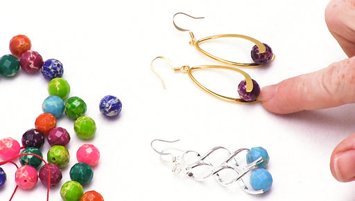 How to Make Pinch Bail Gemstone Earrings