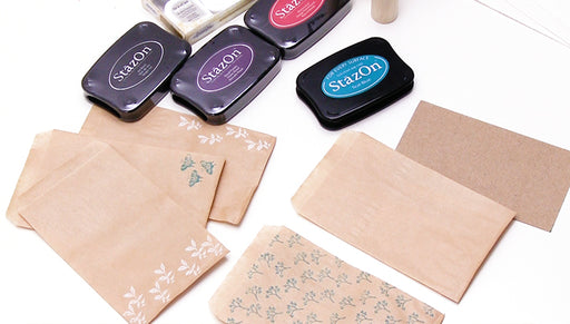 How to Personalize Gift Bags Using Rubber Stamps