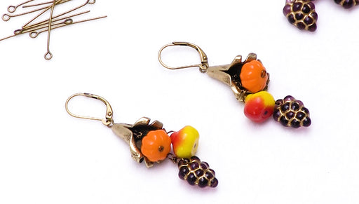 How to Make the Fall Harvest Cornucopia Earrings