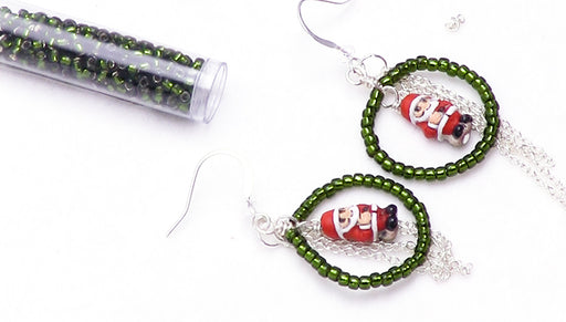How to Make the Santa Baby Earrings
