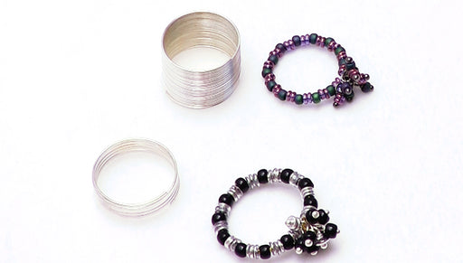 How to Make a Memory Wire Ring With a Beaded Focal Cluster