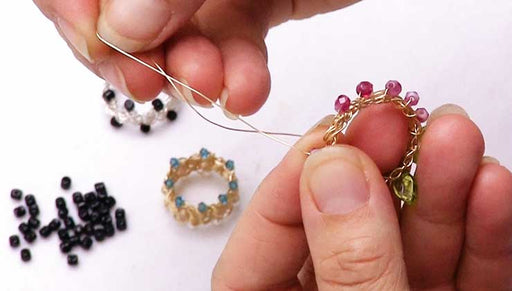 How to Add Beads to a Wire Woven Ring