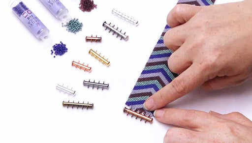 How to Attach a Vertical Loop Multi-Strand Clasp to Peyote Bead Weaving