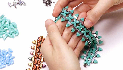 How to Bead Weave a Bracelet with Arcos, Kheops and Tinos Par Puca Beads