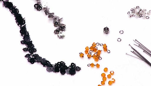 How to Make the Halloween Skull Charm Chain Bracelet