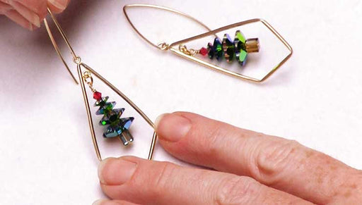 How to Make the Dazzling Swarovski Christmas Tree Earrings