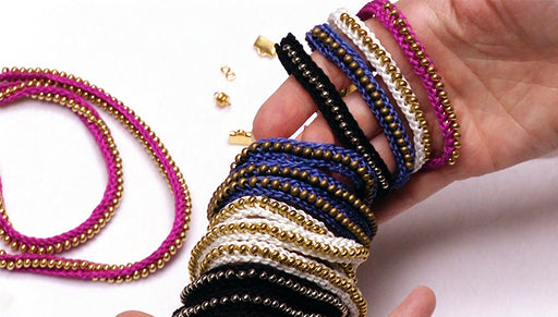 How to Make the Beaded Flat Kumihimo Bracelet Set - An Exclusive Beadaholique Kit