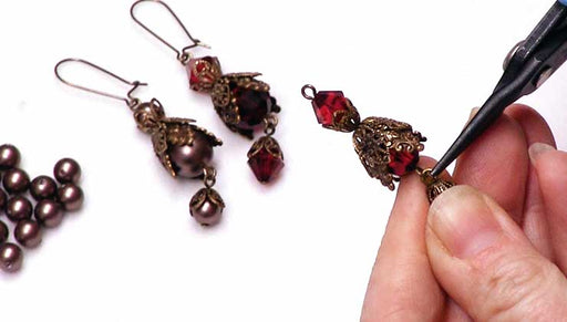 How to Make Vintaj and Swarovski Crystal Earrings