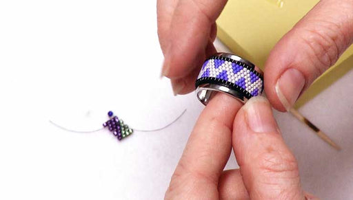 How to Adhere Bead Weaving to a Channel Ring
