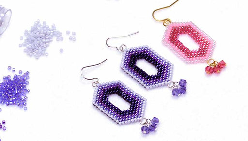 How to Bead Weave Ombre Window Earrings