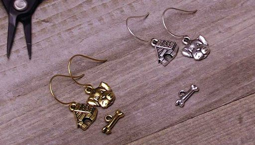 Quick & Easy DIY Jewelry: In The Doghouse Charm Earrings