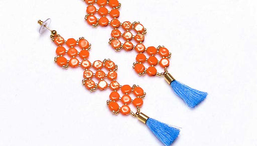 How to Make Statement Earrings with Honeycomb 2-Hole Beads