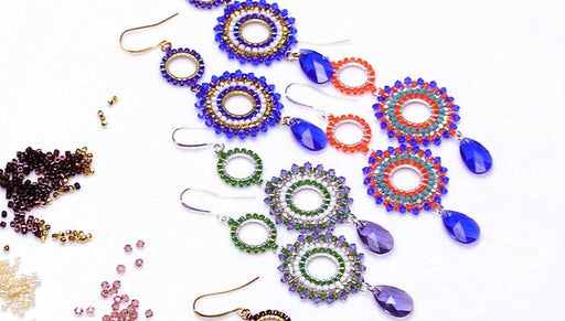How to Make the Beaded Swarovski Crystal Statement Earrings Kit by Beadaholique