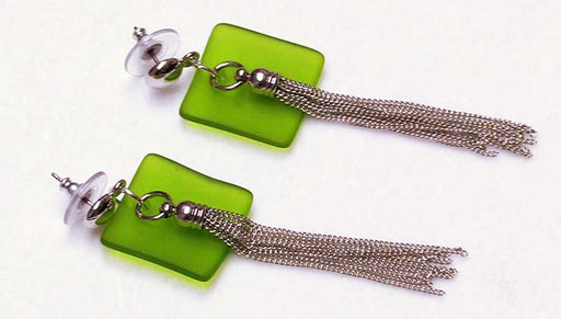 Quick & Easy DIY Jewelry: Key Lime Sea Glass Earrings