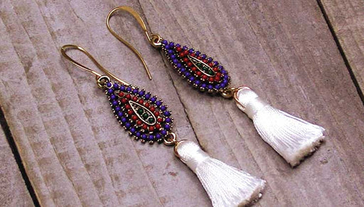 Quick & Easy DIY Jewelry: The Sante Fe Tassel Earrings