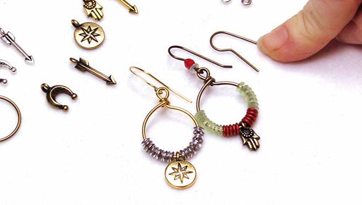How to use a TierraCast Beadable Wrapped Wire Hoop to Make an Earring