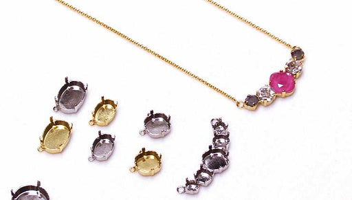 How to Make a Connector Focal Necklace with Gita Settings for Swarovski Crystals
