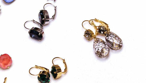 How to Make the Champagne & Ice Earrings with Gita Settings for Swarovski Crystals