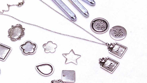 How to Make the Sweet Love Metal Stamped Necklace