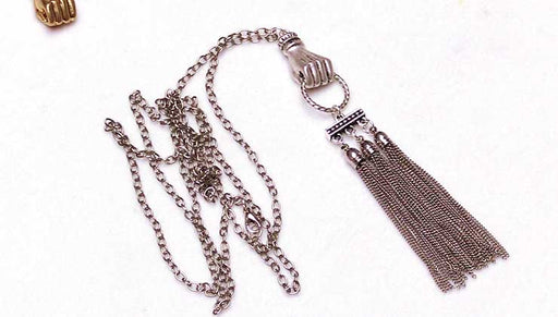 How to Make the Hold Tight Silver Tassel Necklace