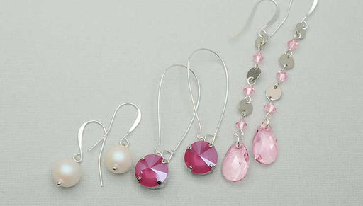 How to Make the Lovely Earring Trio featuring Swarovski Crystals - An Exclusive Beadaholique Kit