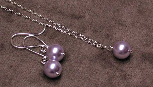 Quick, Easy & Elegant Wedding Jewelry: Bridesmaids Earring and Necklace Set with Swarovski Crystal Pearls