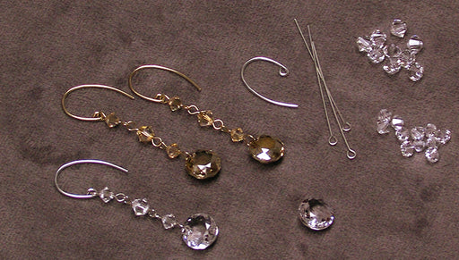 Quick, Easy & Elegant Wedding Jewelry: Sparkling Dangle Earrings featuring Swarovski Crystals