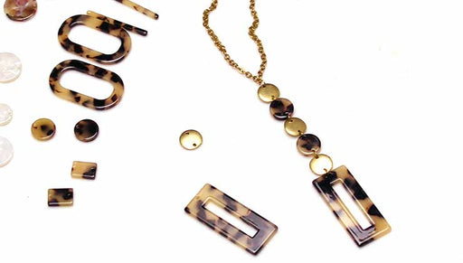 How to Make a Long Y Necklace with Acetate Zola Elements