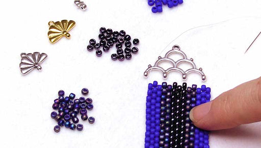 How to Use Cymbal Bead Endings in Bead Weaving