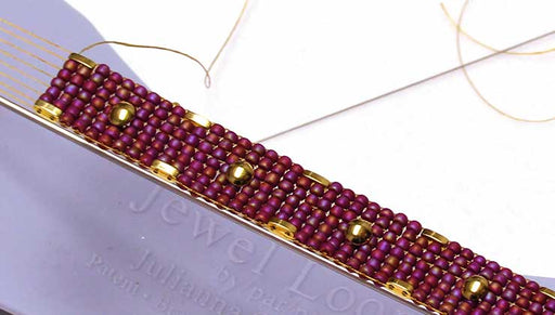 How to Use Cymbal Bead Substitutes with 8/0 Seed Beads in Loom Work