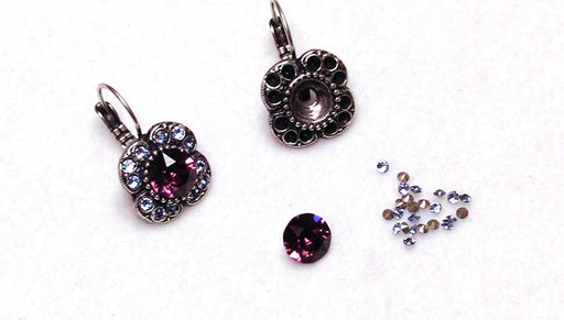 How to Make the Bejeweled Clover Earrings with Gita Settings for Swarovski Crystals
