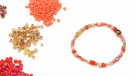 How to Make a Stretch Cord Bracelet with Seed Beads