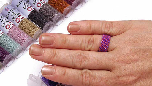 How to Make an Even Count Peyote Stitch Ring