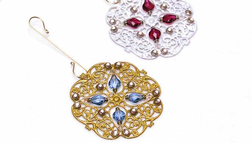 How to Make a Baroque Filigree Ornament with Swarovski Crystals