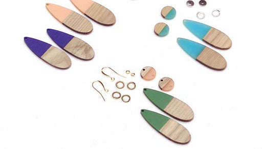 How to Make Earrings using Zola Elements Wood and Resin Focals