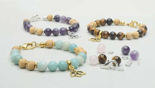 How to Make the Gemstone Lotus Bracelet Kits by Beadaholique