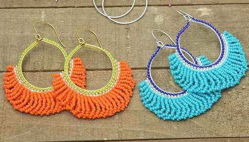 How to Make the Fresca Beaded Fringe Earring Kits by Beadaholique