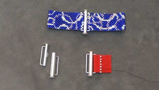 How to Attach a Slide Clasp with Bar Loops to Bead Weaving