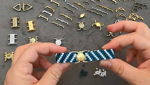 How to Use a Cymbal Magnetic Clasp to Finish Bead Weaving