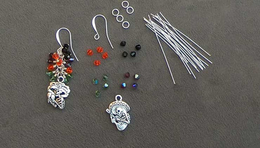 How to Make the Dia de los Muertos Earrings featuring Swarovski Crystals