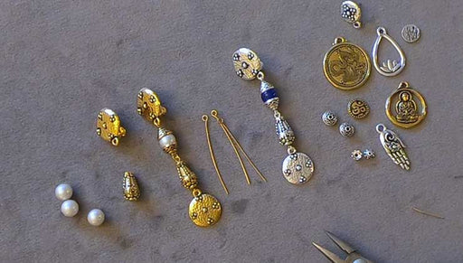 How to Use Clip-on Earrings with Metal Beads and Charms