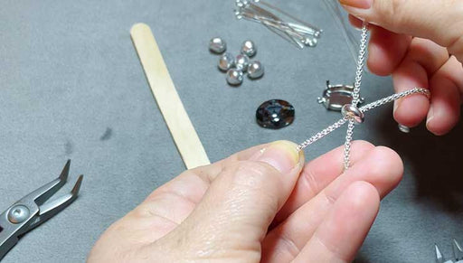 How to Make an Adjustable Bracelet with Swarovski Crystals and Pearls
