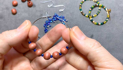 How to Add Beads to an Open Wire Frame Beadable Hoop