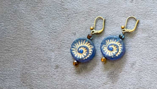 How to Make the Fantastic Fossil Earrings